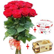 Happy Birthday sweets and flowers - flowers and bouquets on df.ua