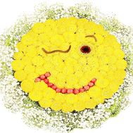 Smiley bouquet of flowers - flowers and bouquets on df.ua