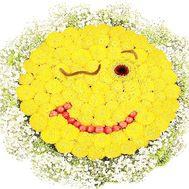 Смайлик букет цветов - цветы и букеты на df.ua