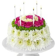 Cake of fresh flowers - flowers and bouquets on df.ua