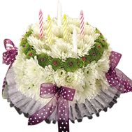 Cake of fresh flowers to buy - flowers and bouquets on df.ua