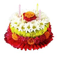 Cake in the form of a bouquet of flowers - flowers and bouquets on df.ua