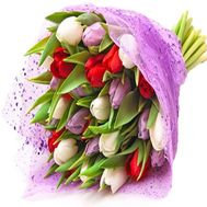 Spring bouquet of tulips - flowers and bouquets on df.ua