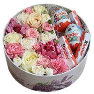Живые цветы и конфеты - цветы и букеты на df.ua
