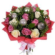 Bouquet for the New Year with Christmas toys - flowers and bouquets on df.ua