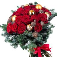 New Year`s bouquet with cones - flowers and bouquets on df.ua