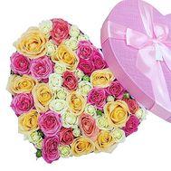 Букет роз в коробке - цветы и букеты на df.ua