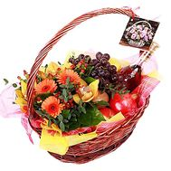 Flowers and fruits in the basket - flowers and bouquets on df.ua