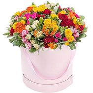 Flowers in a round box - flowers and bouquets on df.ua