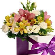 Квіти в шляпній коробці - цветы и букеты на df.ua