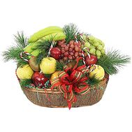 Fruit basket for the New Year with spruce branches - flowers and bouquets on df.ua