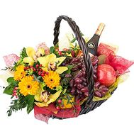 Fruit basket with flowers - flowers and bouquets on df.ua