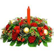 Композиция к новому году - цветы и букеты на df.ua