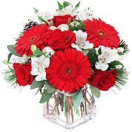 Композиция к Новому году с ветками сосны - цветы и букеты на df.ua