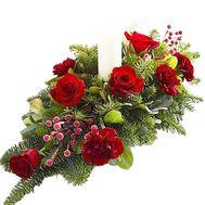 Композиция на новый год - цветы и букеты на df.ua