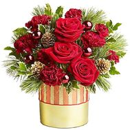 Композиция на Рождество в коробке - цветы и букеты на df.ua