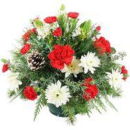 Композиция на стол на новый год - цветы и букеты на df.ua