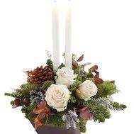 Композиция со свечами - цветы и букеты на df.ua