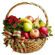 Basket of fruits and flowers - flowers and bouquets on df.ua