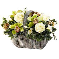 Корзина новогодняя - цветы и букеты на df.ua