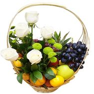 Fruit and flower basket - flowers and bouquets on df.ua