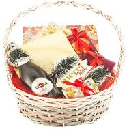 Basket with champagne and sweets for the New Year - flowers and bouquets on df.ua