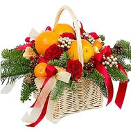 Citrus basket with flowers and decor - flowers and bouquets on df.ua