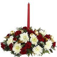 Настольная новогодняя композиция - цветы и букеты на df.ua