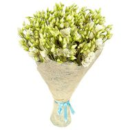 Delicate bouquet of white eustoma - flowers and bouquets on df.ua