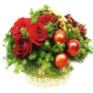 Новогодняя композиция - цветы и букеты на df.ua