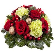 Новогодняя композиция на стол - цветы и букеты на df.ua