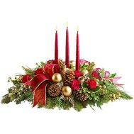 Новогодняя композиция со свечами - цветы и букеты на df.ua