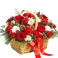 Новогодняя корзина - цветы и букеты на df.ua