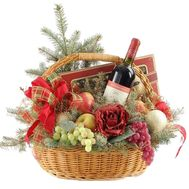 Christmas basket with fruits - flowers and bouquets on df.ua