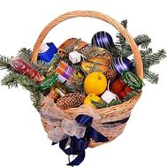 Christmas basket with food - flowers and bouquets on df.ua
