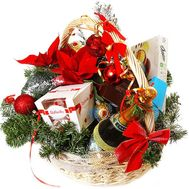 New Year`s gift basket with sweets - flowers and bouquets on df.ua
