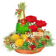 Подарочная коробка на Новый год - цветы и букеты на df.ua