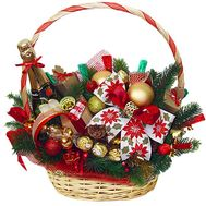 Gift basket with champagne for the New Year - flowers and bouquets on df.ua
