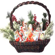 Gift Christmas basket - flowers and bouquets on df.ua