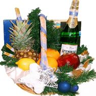 Gift Christmas basket with fruits and sweets - flowers and bouquets on df.ua