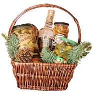 Grocery basket as a gift for the new year - flowers and bouquets on df.ua