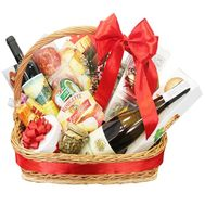 Grocery gift basket for the new year - flowers and bouquets on df.ua