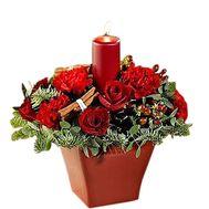 Рождественская флористическая композиция - цветы и букеты на df.ua