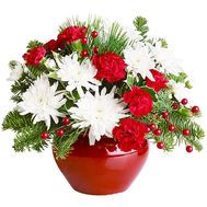 Christmas composition to buy - flowers and bouquets on df.ua