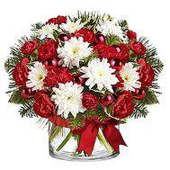 Рождественская композиция на стол - цветы и букеты на df.ua