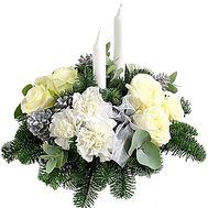 Christmas composition with candles - flowers and bouquets on df.ua