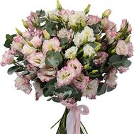 Bouquet of white-red eustoma - flowers and bouquets on df.ua