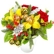 Roses and orchids for the New Year - flowers and bouquets on df.ua