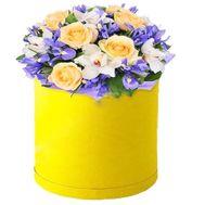 С днем рождения девушке цветы в коробке - цветы и букеты на df.ua