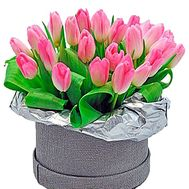 Hat box with tulips - flowers and bouquets on df.ua
